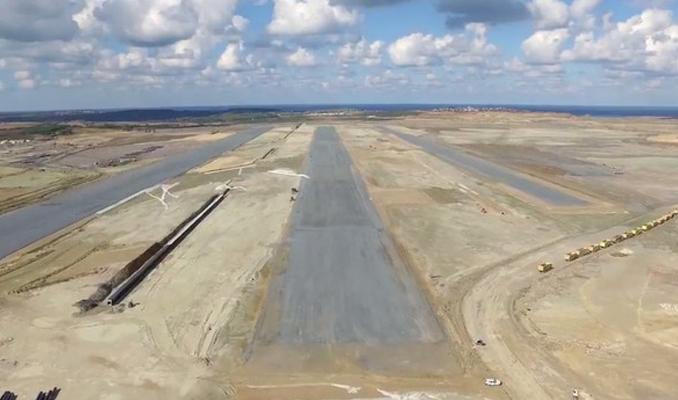 3. Havalimanında ilk pist havadan böyle görüntülendi