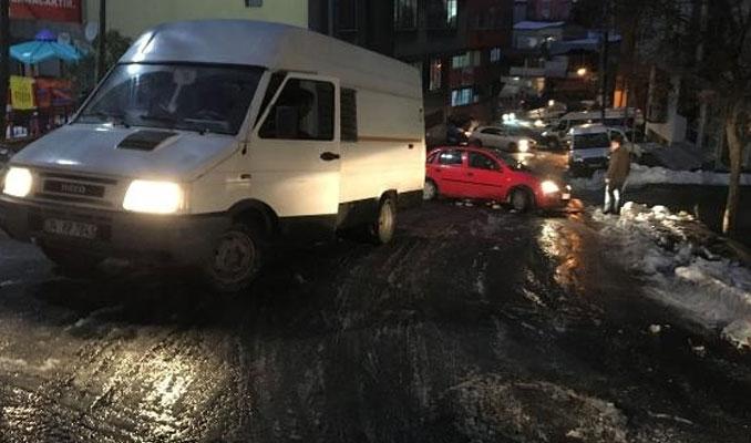 İstanbul'da 'buzlu yol' paniği