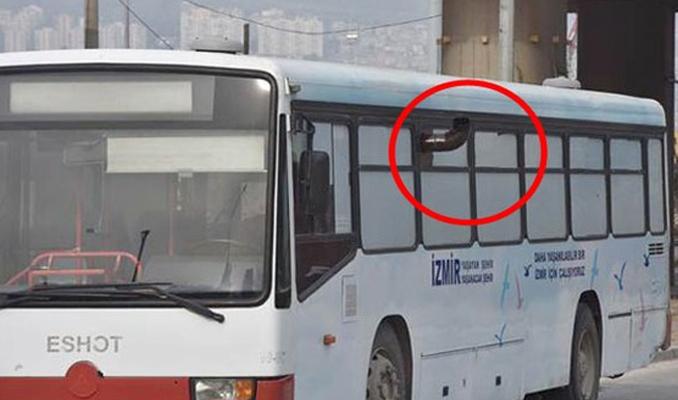 Belediye otobüsünde soğuğa karşı sobalı önlem