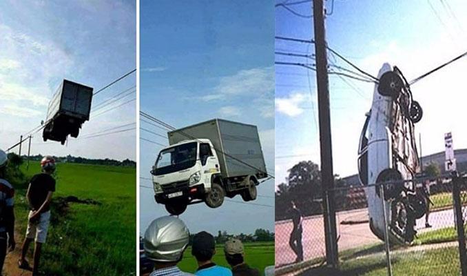Hayrete düşüren kazalar