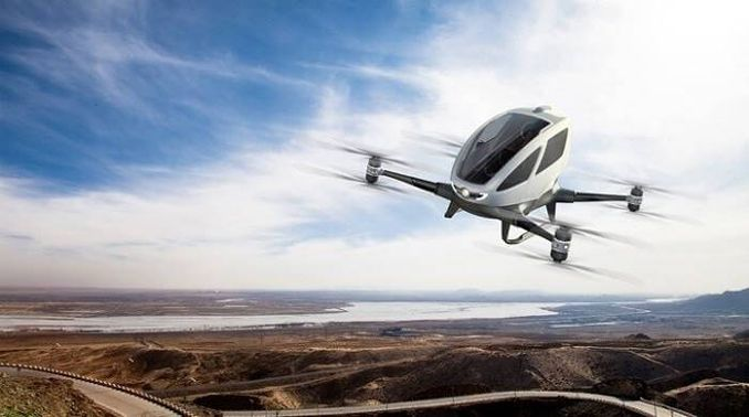 Çin taksi drone yaptı