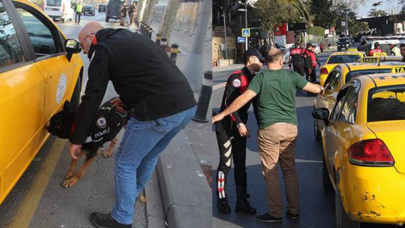 İstanbul'daki taksiler denetlendi
