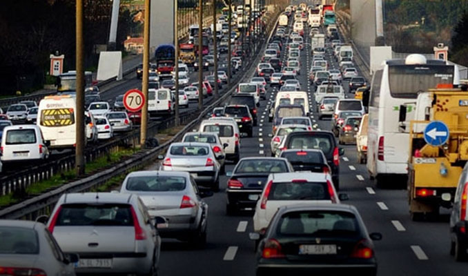 Trafik sıkışıklığında Türkiye ilk 10'da