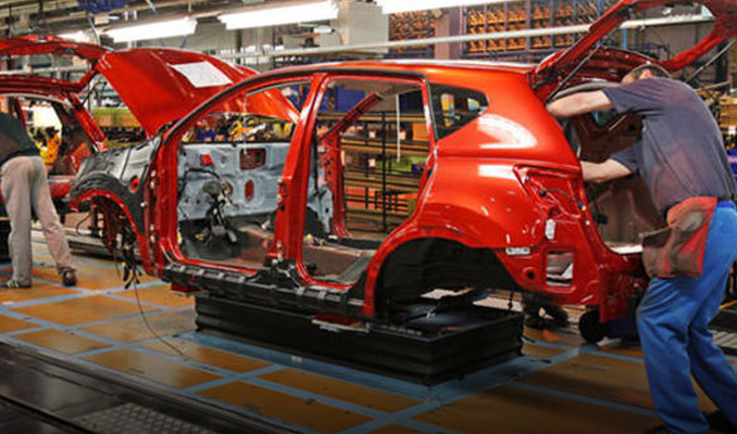 Otomotiv'de üretim arttı