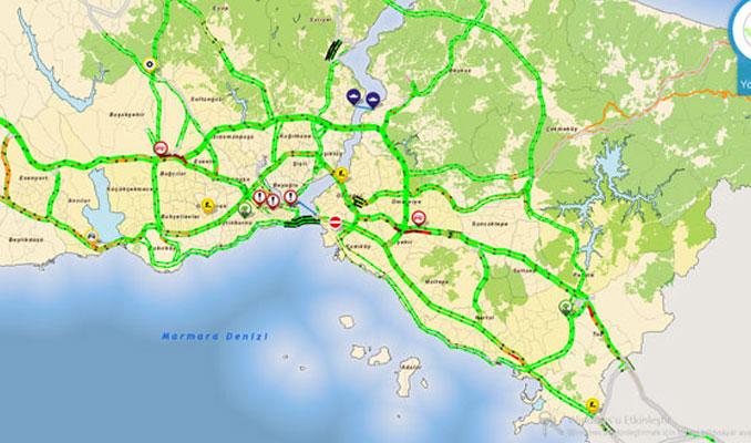 İstanbullular tatile gidince yollar boşaldı
