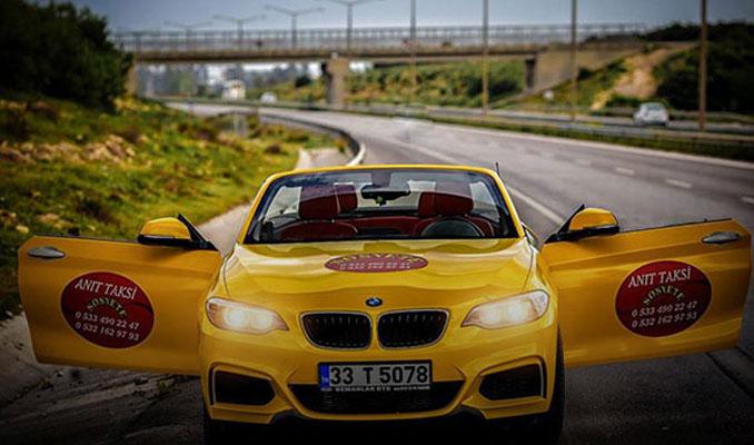 250 bin TL'lik lüks otomobili taksi yaptı