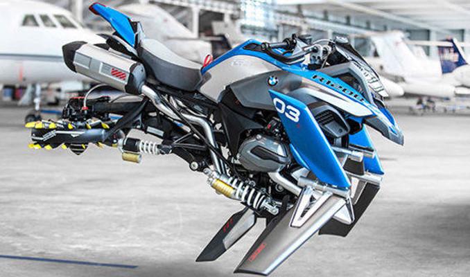 Uçan motosiklet BMW Hover Ride geliyor!