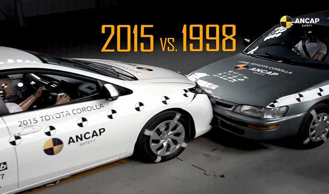 1998 Toyota vs 2015 Toyota çarpışma testi