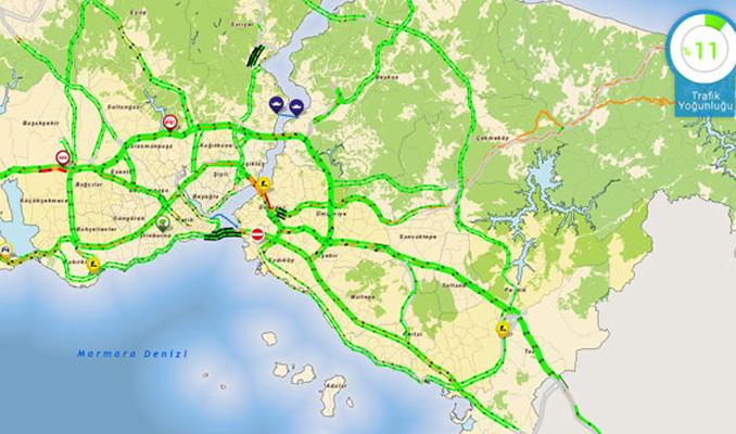 İstanbul yolları boş kaldı