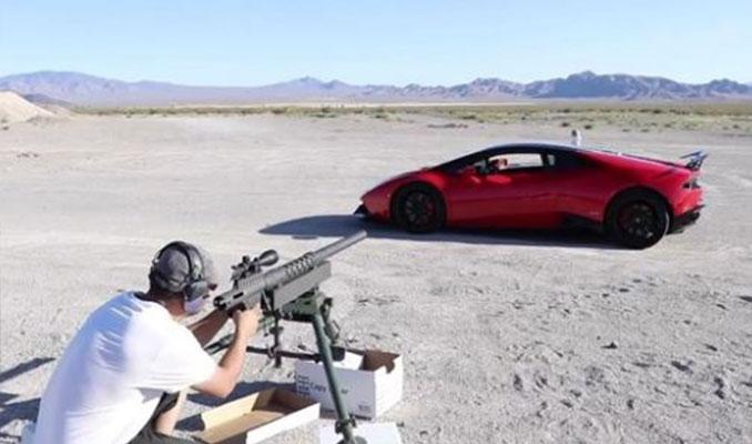Lamborghini ile oynanan tehlikeli oyun