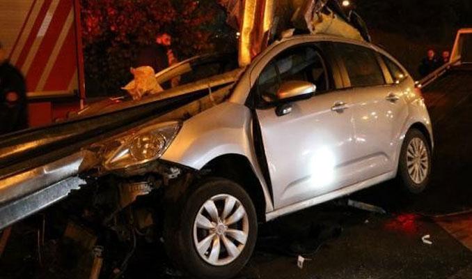 Ataşehir'de feci kaza