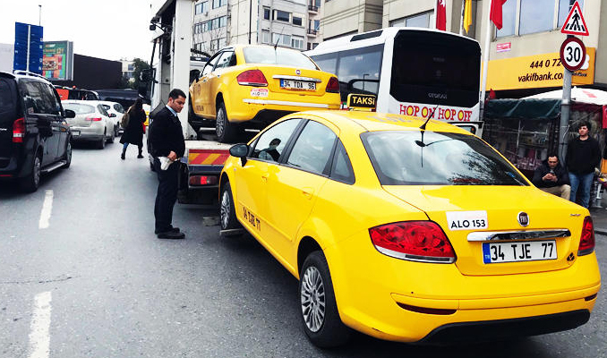 İstanbul'da taksilere operasyon