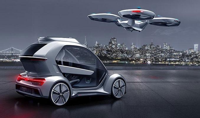 Airbus ve Audi ortak drone araba projesini tanıttı