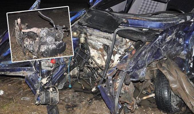 Çarpışmanın etkisiyle motoru 20 metre fırladı