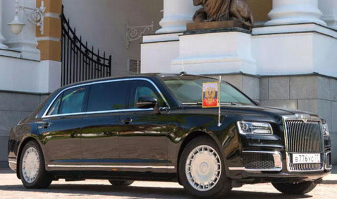 Arjantin basını Putin'in limuzinini 'tekerlekli sığınak' olarak adlandırdı