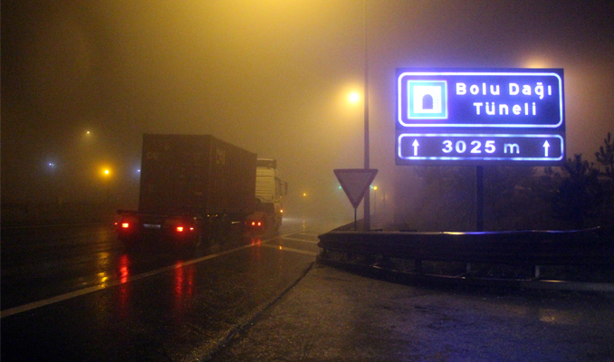 Bolu Dağı Tüneli'nin Ankara istikameti ulaşıma açıldı