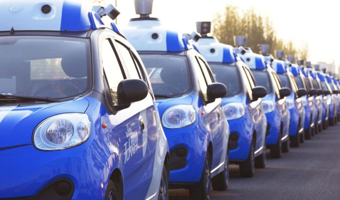 Çin kendi sürücüsüz aracının testine başlıyor