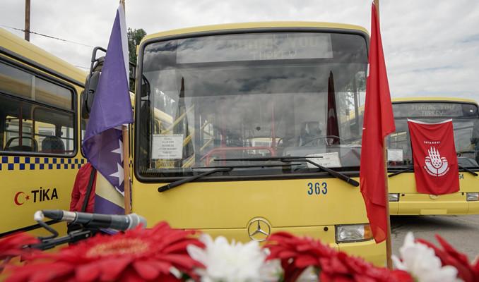 İstanbul'dan Saraybosna'ya otobüs yardımı