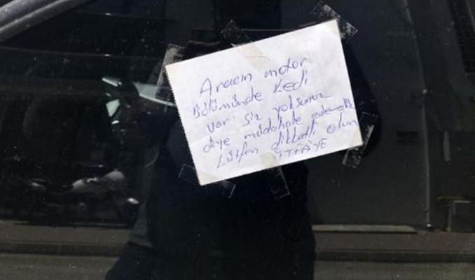 İtfaiye lüks aracın camına neden bu notu bıraktı!