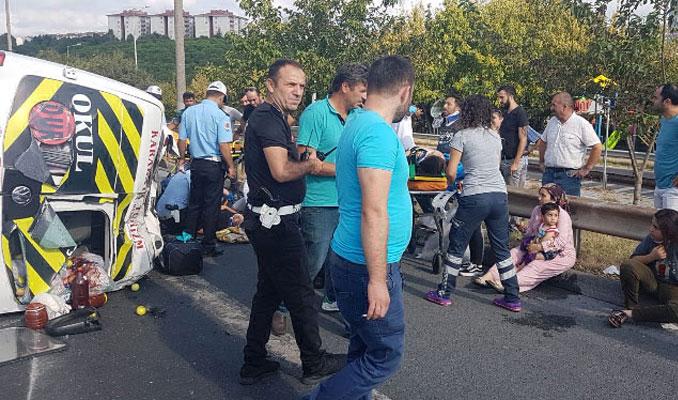 TEM'de kaza: 4'ü çocuk 10 yaralı