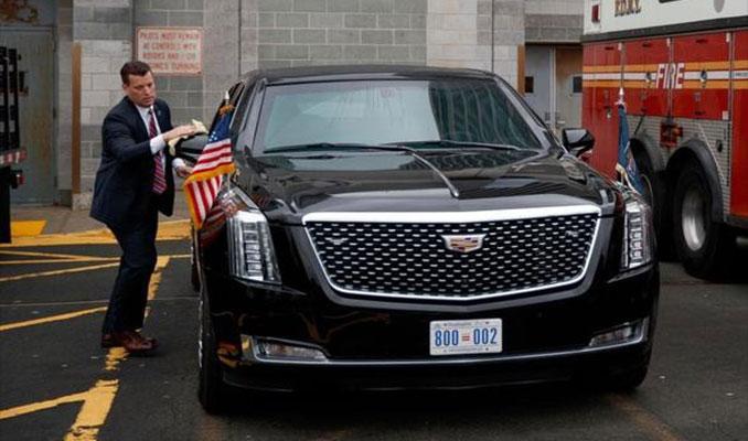 Trump için özel olarak tasarlanan araç ilk kez görüntülendi
