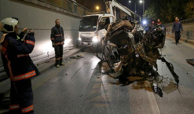 Ankara'da şok görüntü! Hurdaya döndü