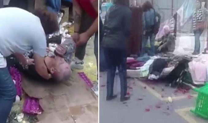 Kadıköy'de otomobil pazara daldı : 2'si ağır 8 yaralı