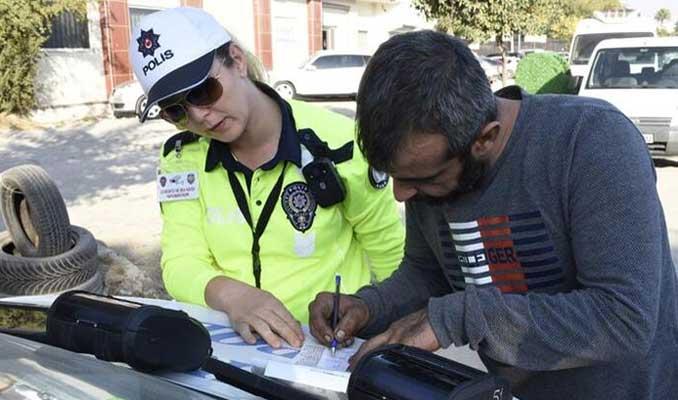 Kadın polisten Trafikte drone uygulaması!
