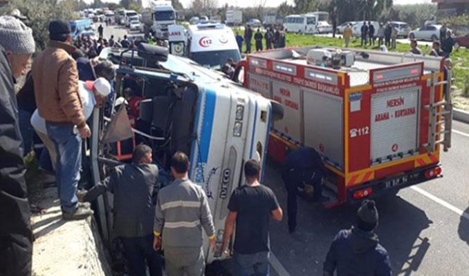 Mersin'de minibüs devrildi: 4 Ölü, 26 yaralı