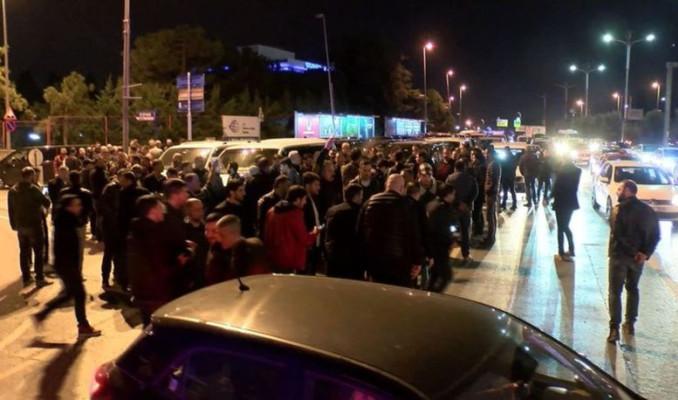 Uber sürücülerinden taksici şiddetine karşı eylem