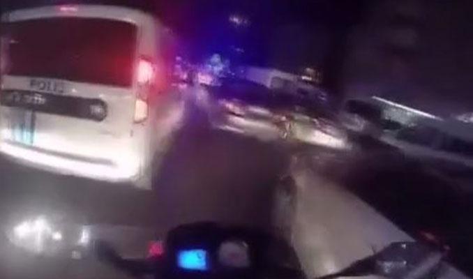 Polis, ambulansa yol vermeyen sürücüye anında müdahale etti