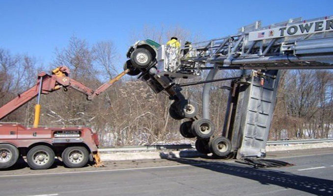 Büyük araçların büyük kazaları!