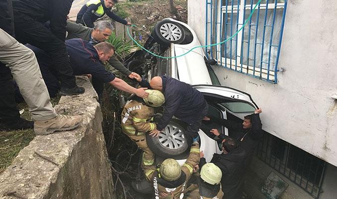 Cumhurbaşkanı Erdoğan'ın oy kullanacağı okulun sokağında kaza