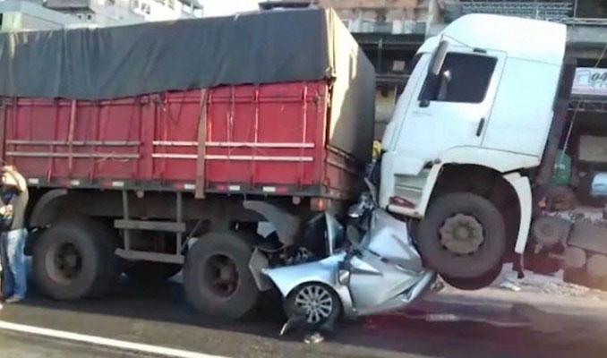 Bu araçtan sağ çıktı! İnanılmaz kaza!