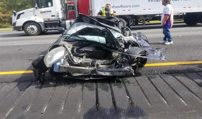 Kazadan sonra öyle bir hale geldi ki! Aracın içinde...