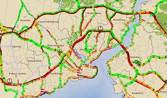 İstanbul'da son trafik durumu