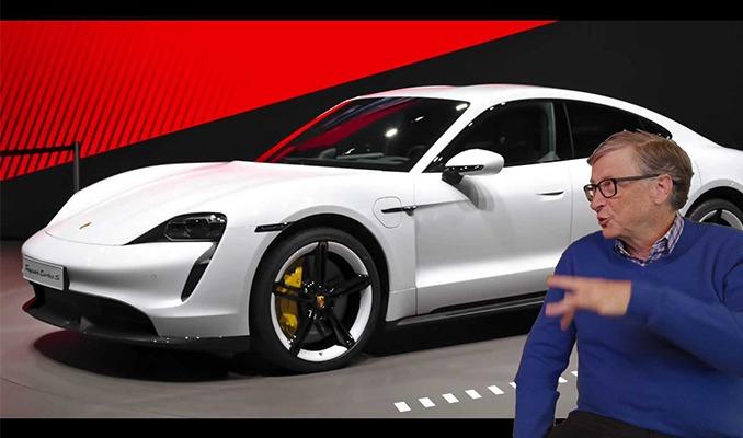 Bill Gates'in özel seri Porsche'u garajda alev aldı