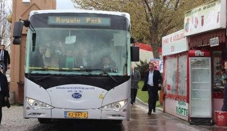 Ankara'ya 400 bin Euro'luk otobüs