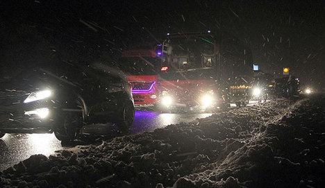 Afyonkarahisar-İzmir karayolu ulaşıma kapandı