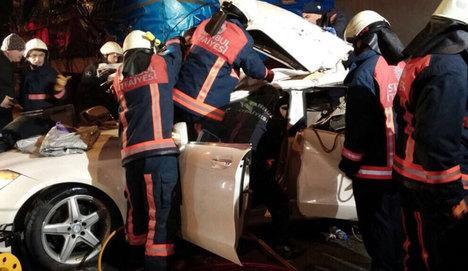 Şile yolunda feci kaza