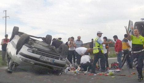 Bolu- Ankara Otoyolu'nda feci kaza