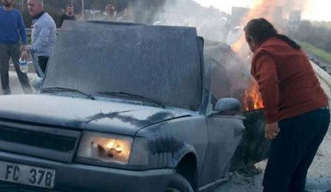 TEM'de feci kaza: 2 kişi yanarak can verdi
