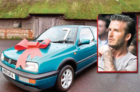 Beckham yardım için arabasını sattı!