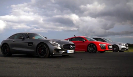 Audi R8 ile Mercedes-AMG'ler