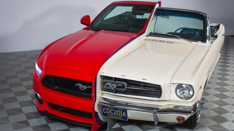 Yeni ve eski model Mustang'ler birleştirildi!