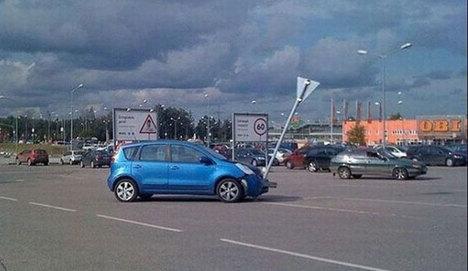 Aracını park edemeyince..