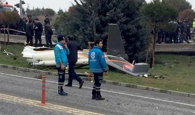 E-5'te helikopter kazası nedeniyle trafik kesildi