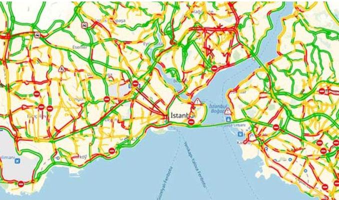 Dikkat! İstanbul'da yağmur trafiği