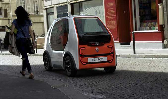 Renault'dan hızlı ulaşım ve kurye konseptli araç: EZ-POD