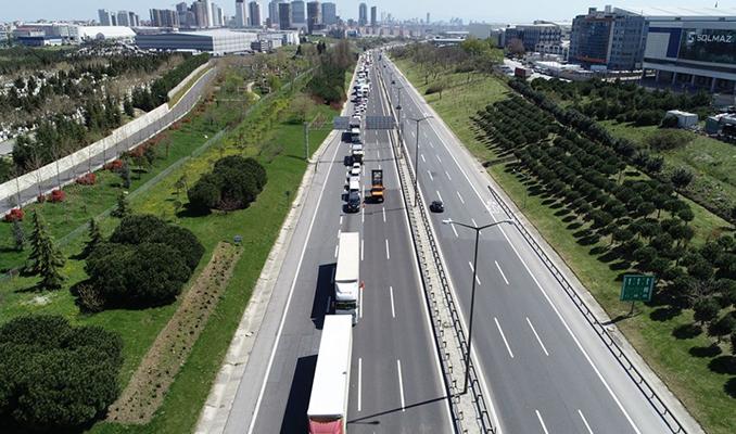 TEM'de trafik denetimi: Kilometrelerce araç kuyruğu oluştu